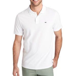 Vineyard Vines Men's Polo Slim Fit White Navy